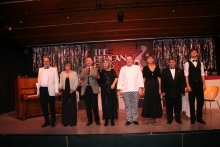 The cast of Murder at the Pelican Club, performed by Act One Drama, Kent