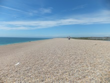 Just one part of Chesil Beach looking back towards Weymouth