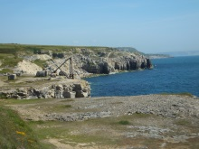 Rugged Portland Coastline and quarries