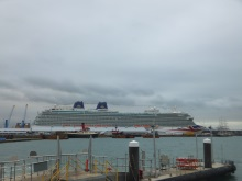 A cruise ship - looking across from Town Quay, Southampton