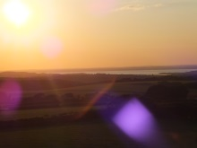 Sunset over Newtown Harbour Isle of Wight, featured in Silent Running by Pauline Rowsone