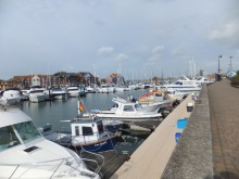 Weymouth Marina - one of the locations featured in Silent Running, an Art Marvik marine crime novel by Pauline Rowson