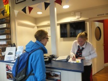 Pauline Rowson checking in at Solent Forts Terminal Portsmouth