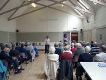 Pauline Rowson talking to Emsworth U3A about her crime novelscrime