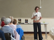 Pauline Rowson talking about her crime writing to Emsworth U3A
