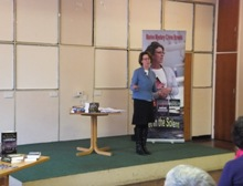 Pauline Rowson talking at Holbury U3A February 2013