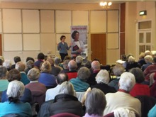 Pauline Rowson Talking at Holbury U3A