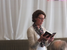 Pauline Rowson reading from her crime novel In For The Kill