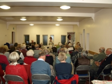 Pauline Rowson talking to members of Southbourne Literary Society