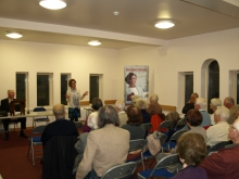 Pauline Rowson talking about her crime novels to Southbourne Literary Society