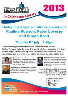 Under Interrogation Pauline Rowson Peter Lovesey and Simon Brett