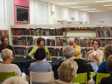 Pauline Rowson on crime panel at Waterlooville Library, Hampshire