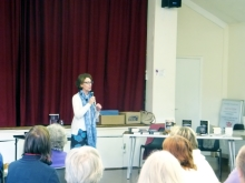 Pauline Rowson talking to U3A audience
