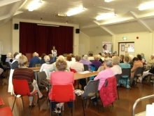 Pauline Rowson talking about her crime novels at Woolmer Forest U3A