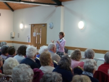 Pauline Rowson talking to audience at New Forest U3A