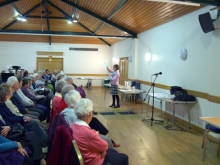 Pauline Rowson talking to members of New Forest U3A about crime writing