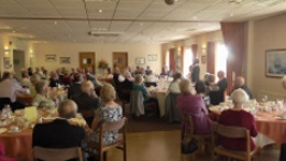 A captivated audience, hooked on crime, Pauline Rowson talking about her crime novels to Fareham Probus