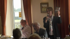 Pauline Rowson talking about her crime novel, Deadly Waters, to Fareham Probus members