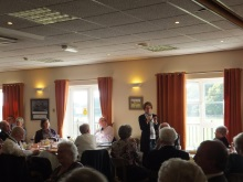 Pauline Rowson talking about her crime novels to Fareham Probus members October 2014