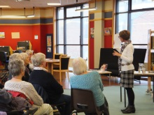 Weymouth Library Pauline Rowson explaining how she writes her crime novels