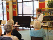 Weymouth Library Pauline Rowson reading an extract from one of her crime novels