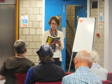 Pauline Rowson reading from DI Andy Horton novel The Suffocating Sea, Worthing Library