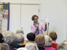 Hammersmith and Fulham U3A Pauline Rowson explaining how she writes her DI Andy Horton crime novels - March 2015