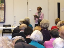 Hammersmith and Fulham U3A Pauline Rowson reading from DI Andy Horton - The Suffocating Sea - March 2015