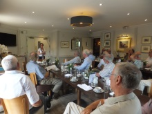 Pauline Rowson entertaining the gentlemen of New Forest North Probus July 2015