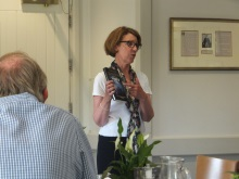 Pauline Rowson talking about the DI Andy Horton crime novel Shroud of Evil - New Forest North Probus- July 2015