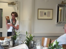 Pauline Rowson talking about the Art Marvik crime novel Silent Running - New Forest North Probus- July 2015