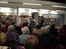 Pauline Rowson at Portchester Library talking about her crime novels