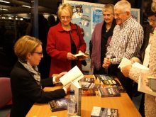 Pauline Rowson signing copies of her crime novels Portchester Library