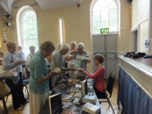 Romsey U3A Pauline Rowson signing copies of her crime novels –July 2015