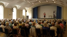 Romsey U3A Pauline Rowson talking to a packed audience – July 2015