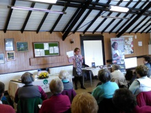 Pauline Rowson entertaining the ladies at Stoke WI