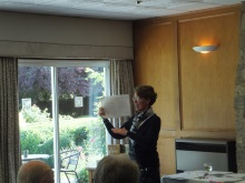 Alton Probus, Pauline Rowson explaining how she draws up plot lines