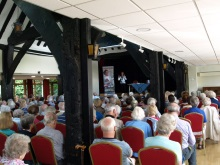 Pauline Rowson entertaining the audience at Bookham June 2016
