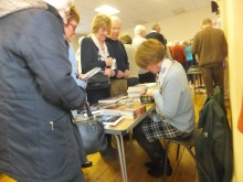 Ems Valley U3A Pauline Rowson signing copies of her crime novels