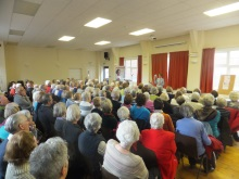 Ems Valley U3A, Pauline Rowson entertains audience with crime writing,