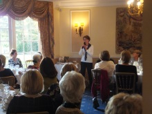 Pauline Rowson talking about her crime novels at the Esseborne Manor Hotel