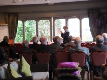 Poole Probus, Pauline Rowson explaining how she writes her crime novels