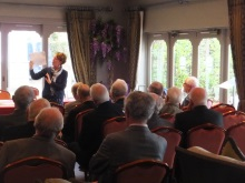 Poole Probus, Pauline Rowson demonstrating her plot lines for her crime novels
