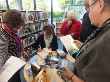 Portchester Library- Book signing, Pauline Rowson signing her crime novels