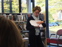 Portchester Library - Pauline Rowson explaining how she draws up her plot lines