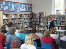 Pauline Rowson giving a library talk