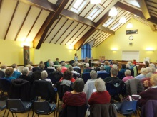 Castle View WI audience listen as Pauline Rowson talks about her crime novels