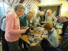 Castle View WI Pauline Rowson signing her crime novels