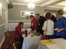 Pauline Rowson signing copies of her crime novels