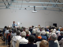 Gosport U3A Pauline Rowson showing how she creates her crime novels